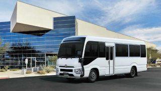 New Toyota Coaster Bus in White