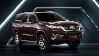 New Toyota Fortuner in Phantom Brown