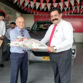 Toyota Creek Motors Happy Customer Receiving New Car
