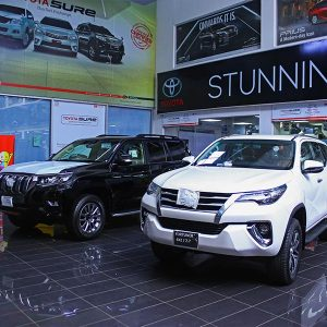 New Toyota Fortuner at Toyota Creek Motors Showroom