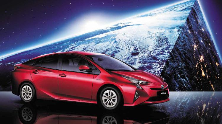 Toyota Prius new model in Red