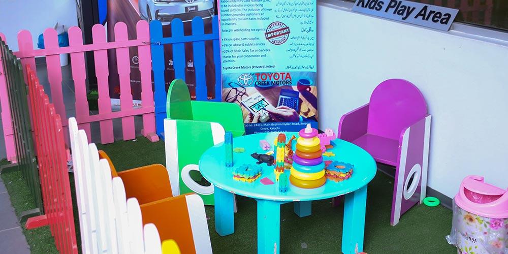 Kids Play Area at Toyota Creek Motors
