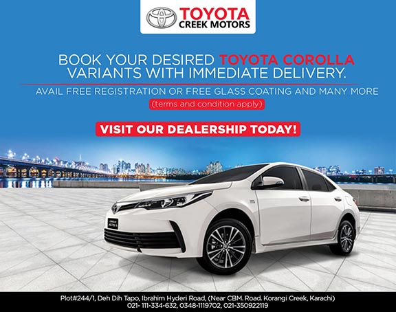 Book your desired Toyota Corolla Variants with Immediate Delivery