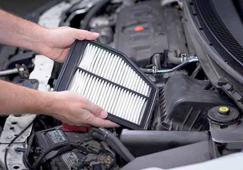 checking vehicle air filter