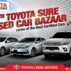 Toyota Creek Motors Participates At The 4th Toyota Sure Bazaar