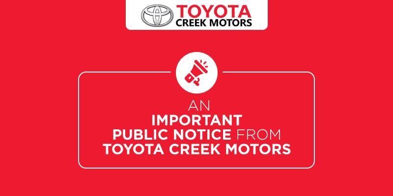 Toyota-Creek-Public-Notice